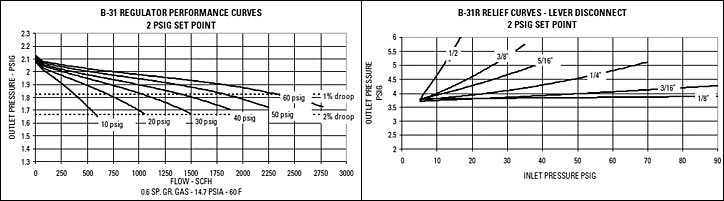 Model B31 Series Performance Curves